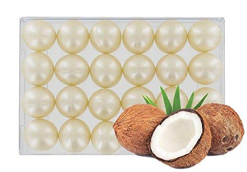 Scopri offerta per Confezione da 24rotondo olio da bagno Pearls-fragranza di cocco