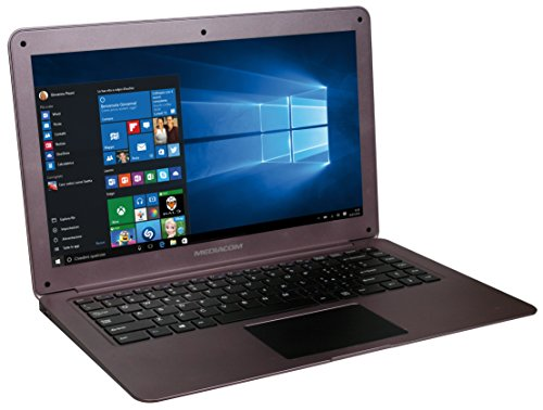 Mediacom SmartBook 14 Ultra Notebook, Display da 14' LCD, Memoria Interna da 32 GB Processore Intel Atom Z8300