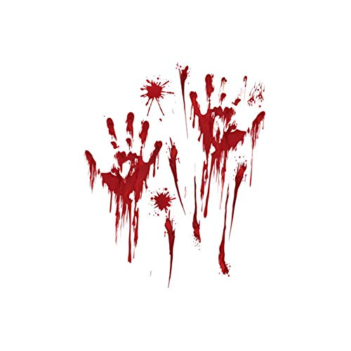 Fensterklammern Aufkleber Dekor Blutige Handabdruck Horror Badezimmer Zombie Party Dekorationen Liefert ()