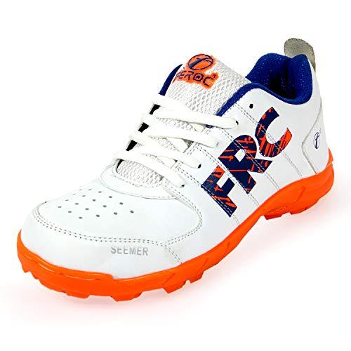 Feroc Seamar White Orange Cricket Shoes (9)