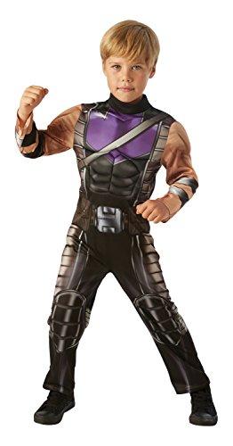 Rubies 3630505L Hawkeye Avengers Assemble Deluxe, Kindkostüm, Jungen, Schwarz (Original)
