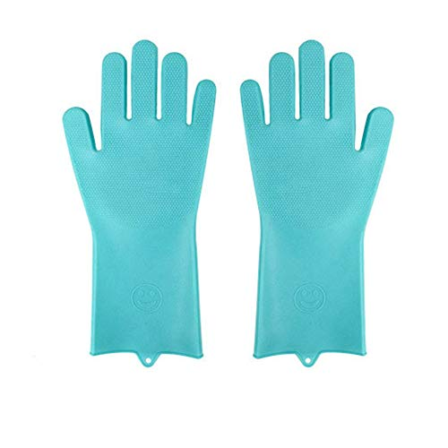 &liyanan Wiederverwendbare Silikon-Handschuhe, Geschirrspülen Reinigungsbürste, Hitzebeständige Umweltfreundliche Mehrzweck-Scrubber-Handschuhe Für Die Reinigung Von Haushalt, Küche, Auto, Pet -