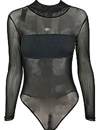 iBaste Tuta in maglia stretta da donna sexy in denim biancheria intima donna