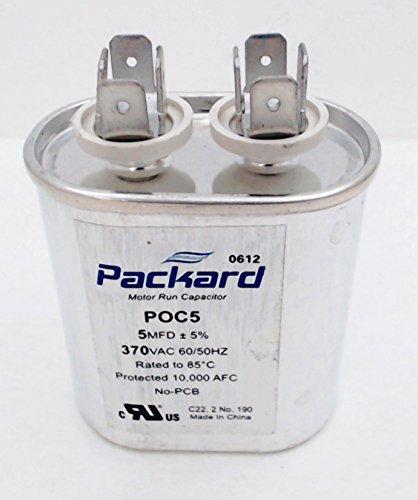 Packard poc5370Volt 5MFD Oval Motor Run Kondensator -