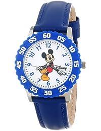 Disney by Ewatchfactory W000236 - Reloj de aprendizaje de cuarzo infantil, correa de cuero color azul