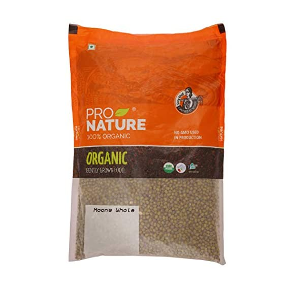 Pro Nature 100% Organic Moong Green Whole, 1kg