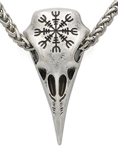 Colgante con diseño de calavera de cuervo, diseño nórdico...