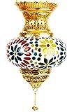Farol de mosaico oriental Farol colgante de cristal Alaa oro