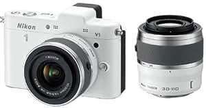 Nikon 1 V1 + 1 Nikkor VR 10-30mm f/3.5-5.6 + 1 Nikkor VR 30-110mm f/3.8-5.6 - bianco