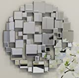 Spiegel Plates MDF schwarz 60x60cm