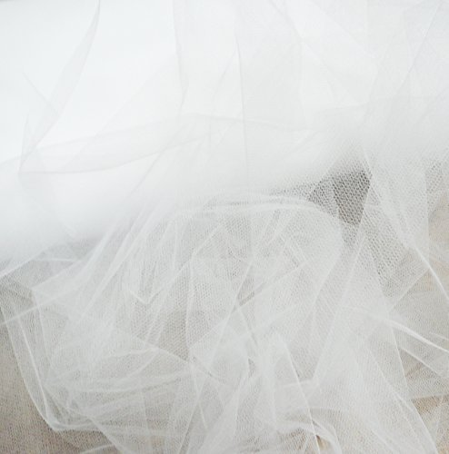 Bianco Da Sposa Tulle Velo Tessuto Larghezza