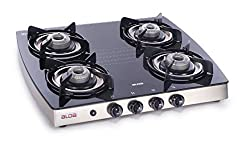 Glen Alda Kitchen Cooktop 142 GT SS Drip Tray Stainless Steel Glass Gas Stove