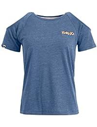 khujo Damen Shirt EMMEA mit Cut-Outs IM Schulterbereich