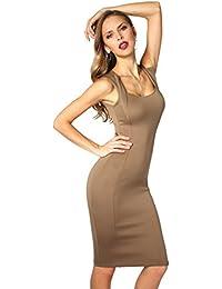 KRISP® Femmes Robes Fourreau Uni Soirée Cocktail
