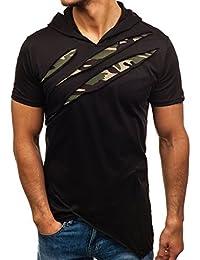 BOLF shirt à manches courtes – Capuche – Slim fit – Classique – Party – Motif – Homme [3C3]