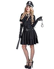 Idea Regalo - EraSpooky Sexy Donna Poliziotto Polizia Ruolo Costume Vestito