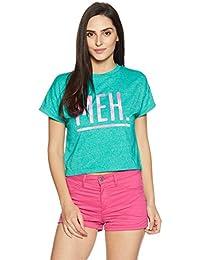 Amazon Brand - Symbol Women's Boxy Graphic Print T-Shirt