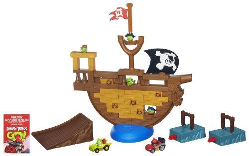 Hasbro A6439E24 - Angry Birds Go Pirate Pig Attack Set, Aktions- und Geschicklichkeitsspiel Angry Bird-auto-spiel