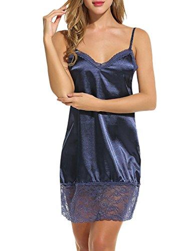 OURS - Chemise de nuit - Femme Bleu Marine