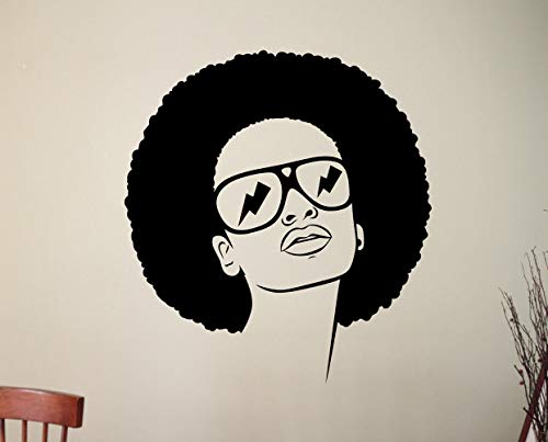 b4f09668911aa pegatina de pared frases barber shop décor Barber Shop Sign African Sexy  Girl Wall Sticker Woman