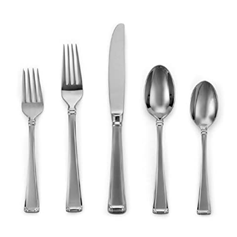 Gorham Column Frosted Stainless Flatware 5-Piece Place Setting, Service for 1 by Gorham