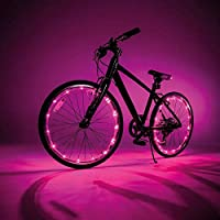 Caprican JML Pink Wheely Bright Led Bike Wheel & Frame String Lights 2Pk Fits 2 Wheels