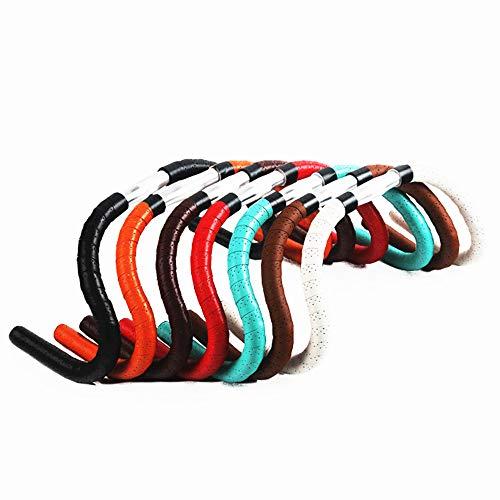 Auch geeignet für Badmintonschläger Schläger Tennis Finishing Rod Grips 2 STÜCKE PU Fahrrad Lenkerband Rennrad Lenkerbänder mit Finishing Tapes und Lenkerendstopfen, , Weitere Stile ( Farbe : Weiß )