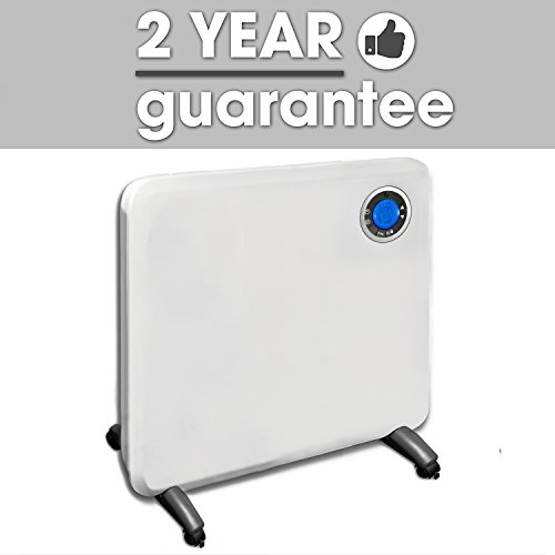 41YWA5R5thL. SS500  - Futura Electric Panel Heater 24 Hour 7 Day Timer Thermostat Bathroom Safe 400W - 2000W
