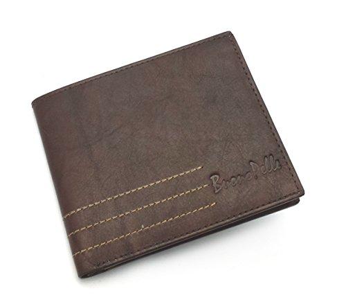 Créateur BUONO PELLE Real Porte-monnaie en cuir décalé Portefeuille à carte de crédit Bifold Purse With Gift Box