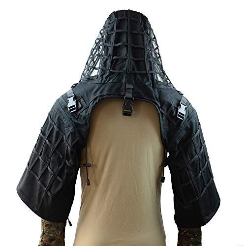 Tactical Sniper Top Ghillie Boden Airsoft Jagd Ghillie Suit Foundation erhältlich in 4Farben, schwarz