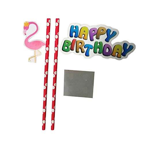 Flamingo Modèle Anniversaire Festival Bithday Party Fournitures Accessoires Papier Chapeaux Plaques Tissus En Plastique Couteau Et Une Fourchette, Violet