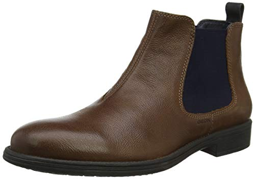 Geox Herren U Jaylon a Chelsea Boots, Braun (Cognac/Blue C6n4e), 43 EU