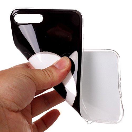 Coque pour iPhone 8 Plus (2017), Coque pour iPhone 7 Plus (2016) ,JIENI Souple TPU Haute qualité Éléphant Silicone Housse Étui Anti-Scratch Case Cover Coque pour iPhone 8 Plus (2017) et iPhone 7 Plus  B6