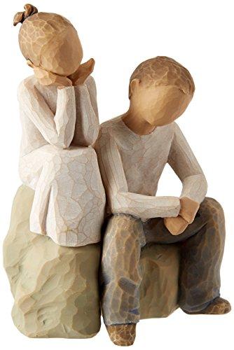 Willow Tree 26187 Figur Bruder und Schwester, 7,6 x 3,8 x 14 cm (Schwester Statuen)
