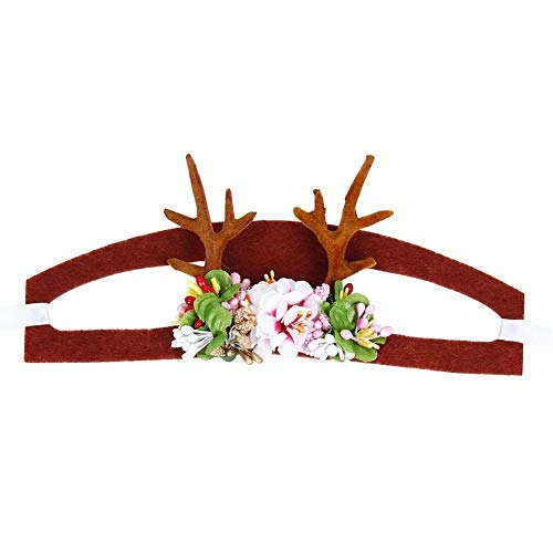 Für Kostüm Antlers Hunde - TOOGOO Weihnachten Haustier Hund Katze Caps Rentier Hut Kopfbedeckung Kopfschmuck Fuer Haustier Urlaub Party Kostuem M