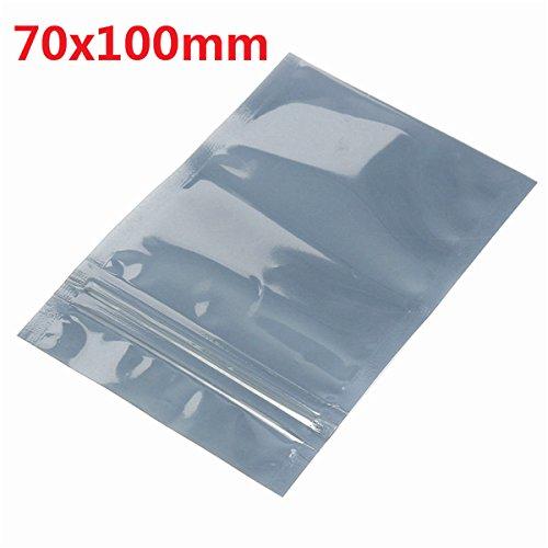 KUNSE 70X100mm ESD Anti-Static Shielding Zip Lock Packing Poacking Taschen