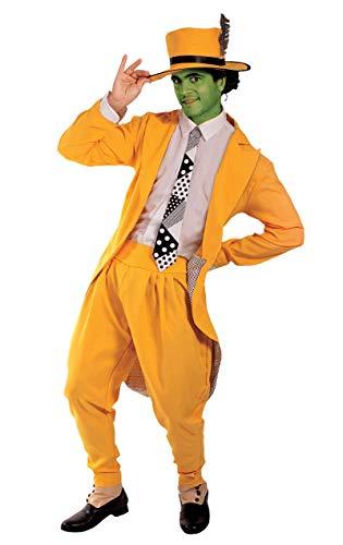 Manischer Superheld Kostüm Karneval Herren Verkleidung Mottoparty Standard (Jim Carrey Kostüm)