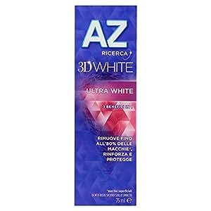 AZ 3D White Ultra WhiteDentifricio - 6 pezzi da 75 ml [450 ml]
