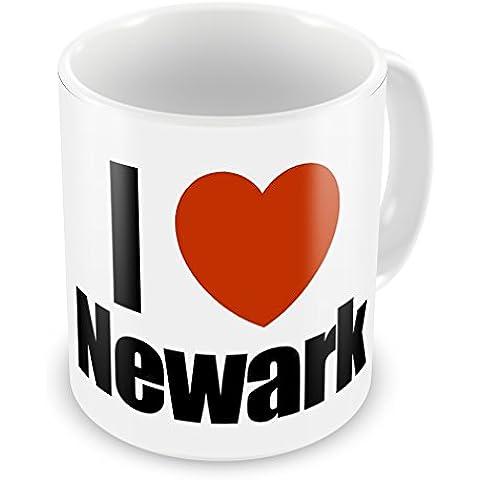 Coffee Mug: I Love regione, Newark, New Jersey, Stati Uniti-Neonblond