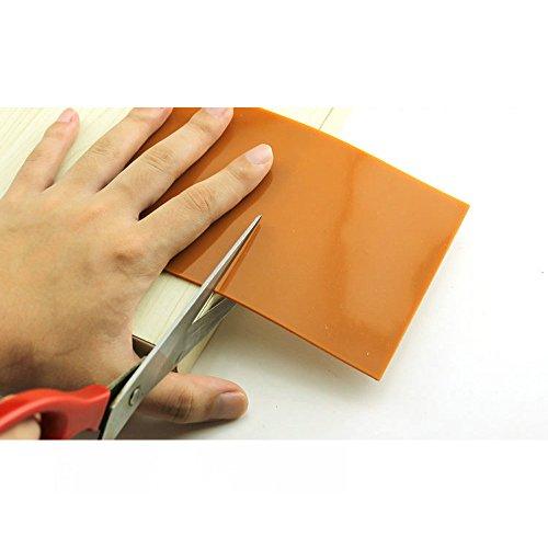 Almohadilla de silicona antideslizante para proteger suelos de madera; para muebles, camas, sofás; ideal para muebles pesados, silicona, marrón, 50cm