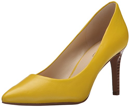 Nove in pelle occidentale Charly pompa Dress Yellow