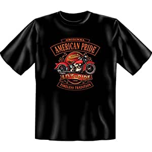 American pride and t-shirt live-harley davidson milwaukee ride noir taille xXL