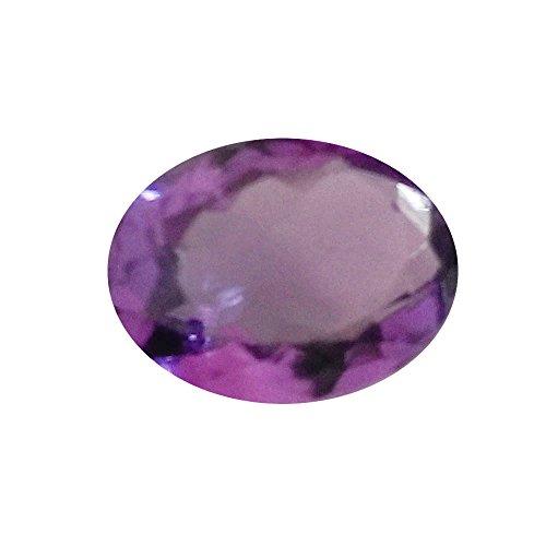 Astro Gemsstone Jamunia Gemstone Original Certified Amethyst Stone 4.47 Carat Lab Certified Loose Gemstone