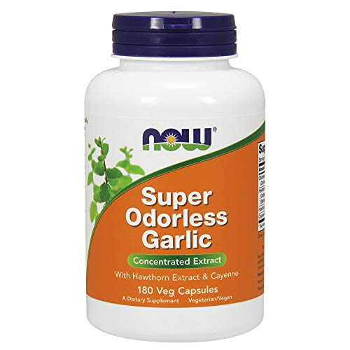 180 Vcaps Now Foods (Now Foods Super Odorless Garlic 50mg, 180 Vcaps)