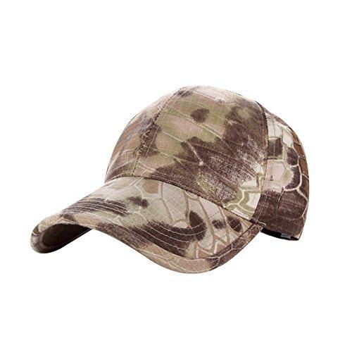 hjuns verstellbar Camo Baseball Cap Hat für Camping Wandern Outdoor Sport, Desert Digital Pattern Camouflage (Camo-hut Digital)