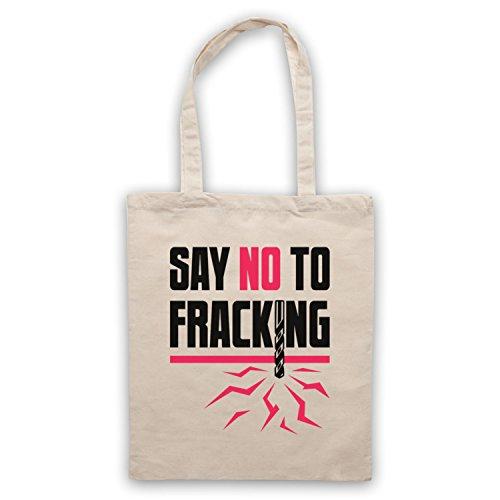Say No To Fracking Protest Slogan Umhangetaschen Naturlich