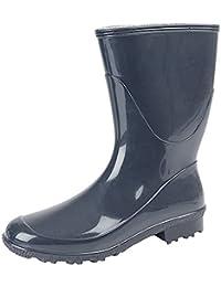 StormWells - Botas de agua de caña baja para mujer