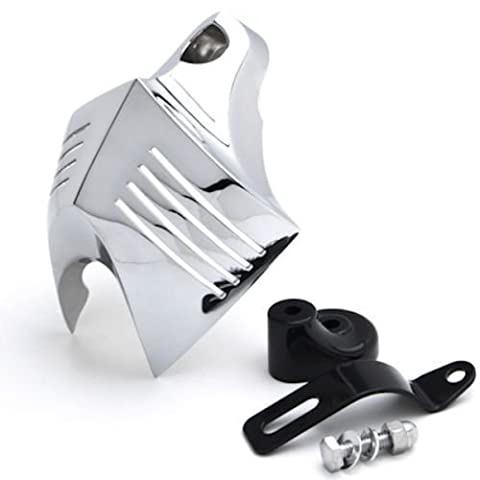 LEAGUE&CO Motorrad Hupen Abdeckung Chrom Horn Cover für 1992-2014 Harley Davidson V Twin Cam Style