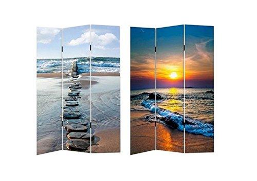 HTI-Line Paravent Beach Sichtschutz Spanische Wand Raumteiler NEU OVP