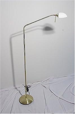 Reality Leuchten Halogen-Stehleuchte, inklusive 1x G9, 3-Stufen-Touchdimmer, 2 Flexgelenke, in messing, Höhe 119-175 cm R4496-07 von Reality Leuchten GmbH Retail - Lampenhans.de